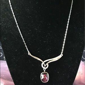 Elegant Style Swarovski Crystal Burgundy Necklace